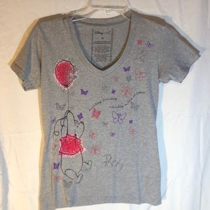 Gray Disney Winnie the Pooh T-shirt Signed